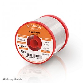 Soldering wire HS10 - Sn60,Pb40 - 0.7 mm , 500 gr , 2.5% Flux