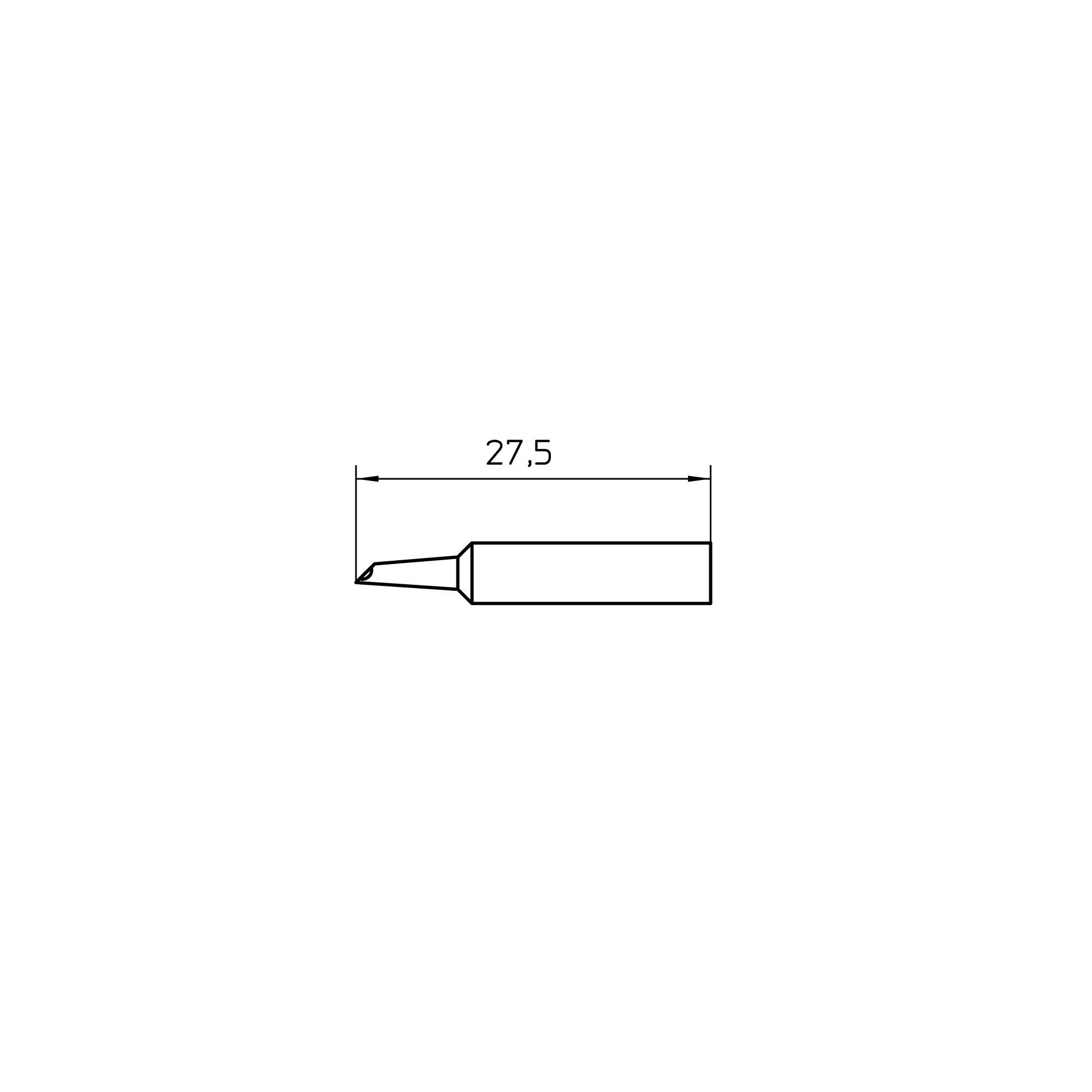 XNT GW2 SHORT (10 pcs.) Soldering tip