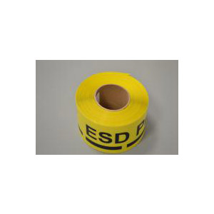 ESD Yellow Floor Tape DuraStripe In-Line Print (7,5 cm)
