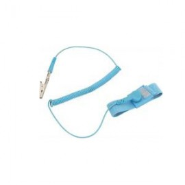 ESD Wrist Strap Antiallergenic 10mm Stud/BA/Croco 1.8 Lightblue