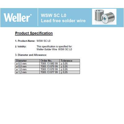 WSW SC L0 Lead free solder wire