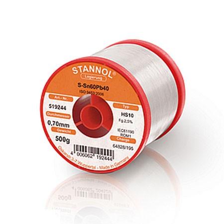 Stannol Solder Wire HS10 2,5% 2,0 PB60SN40 500g