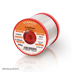 Soldering wire HS10 - Sn60,Pb40 - 1.0 mm , 1 Kg , 2.5% Flux