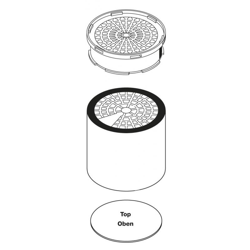 Fine dust filter F 7 - WFE / WFE P 3 pieces