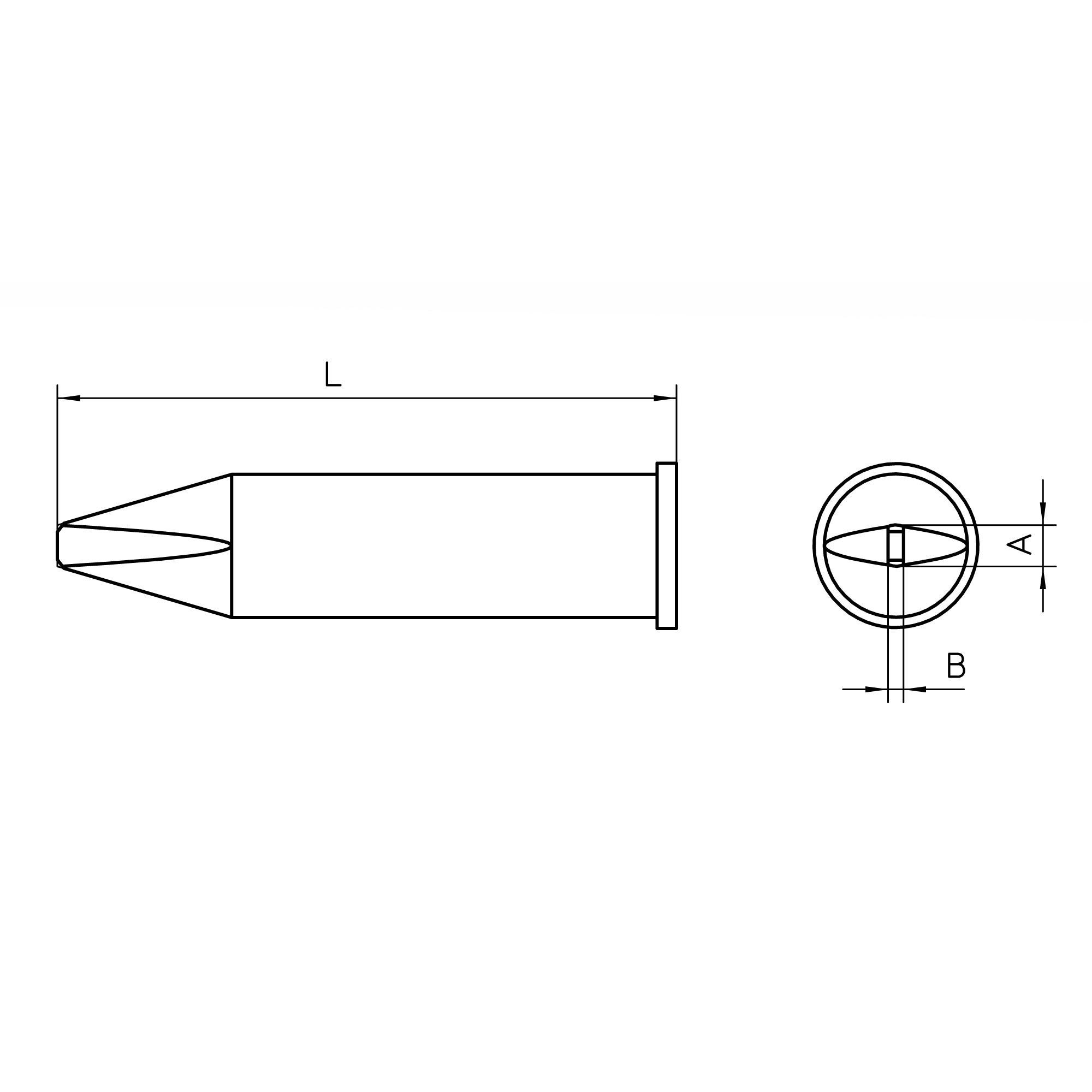 XHT Soldering tips for soldering iron WXP 200 / WP 200