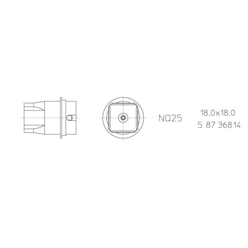 NQ 25 Hot air nozzle