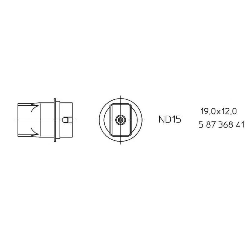 ND 15 Hot air nozzle
