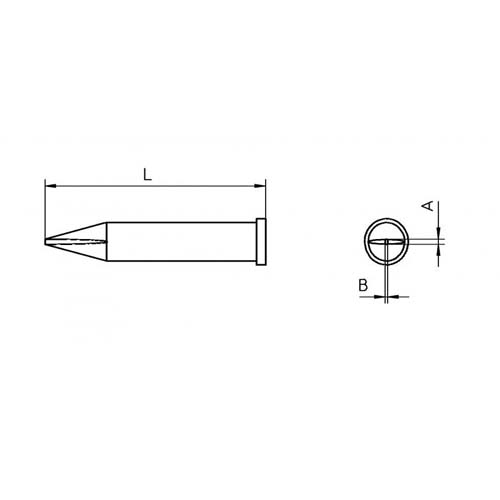 Weller XT Soldering Tip for Soldering Iron WP 120 and WXP 120